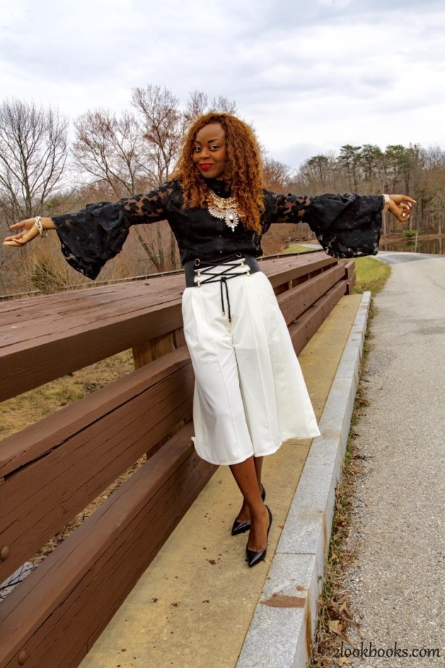 How to wear white culottes5