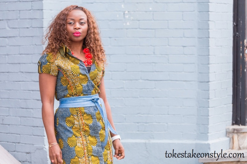 How to Style a Print Shirt Dress7