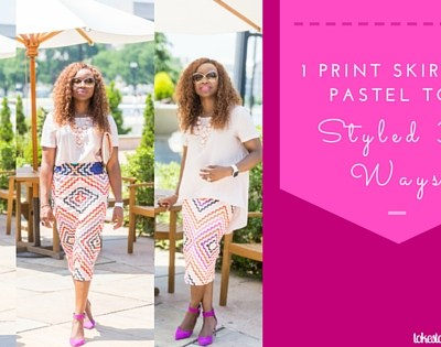 3 Ways to Style 1 Print Skirt.