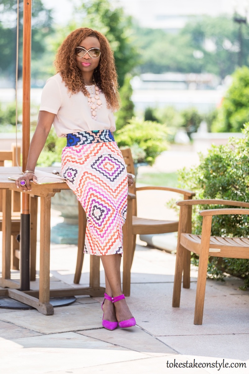 Print Skirt and Pastel Top-3 Ways1