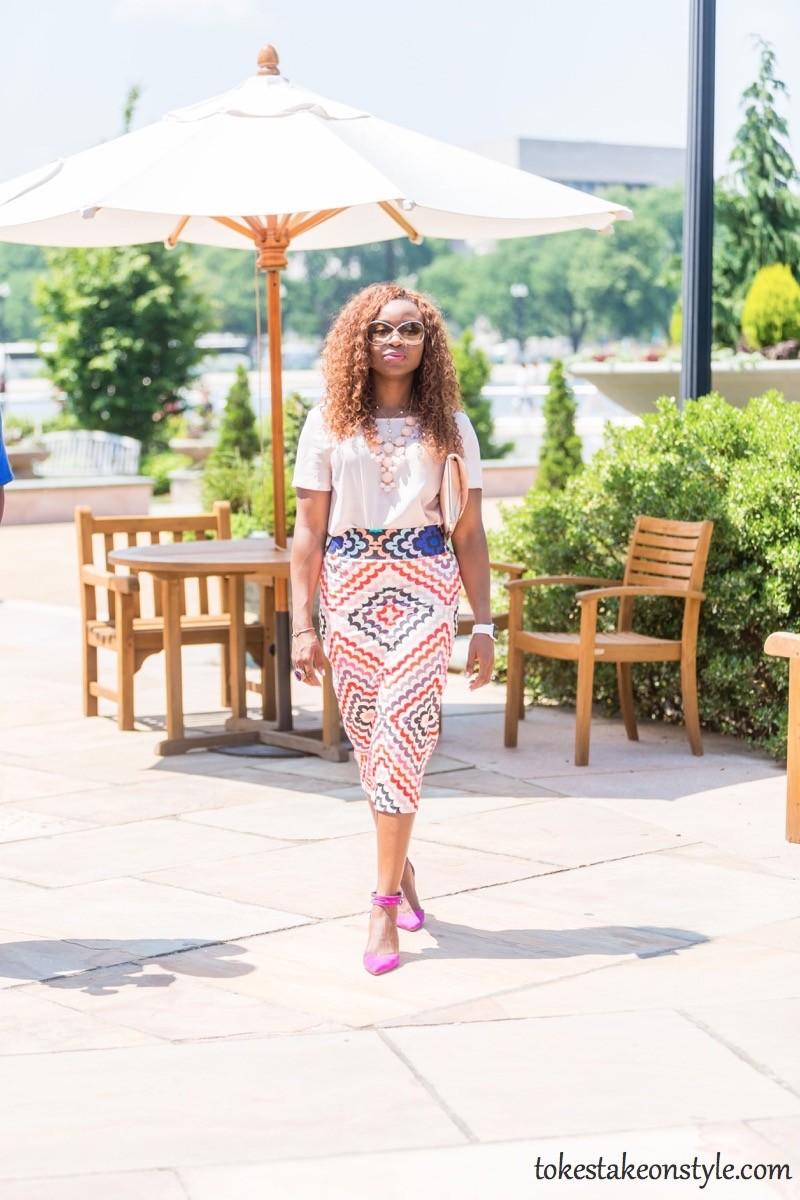 Print Skirt and Pastel Top-3 Ways7