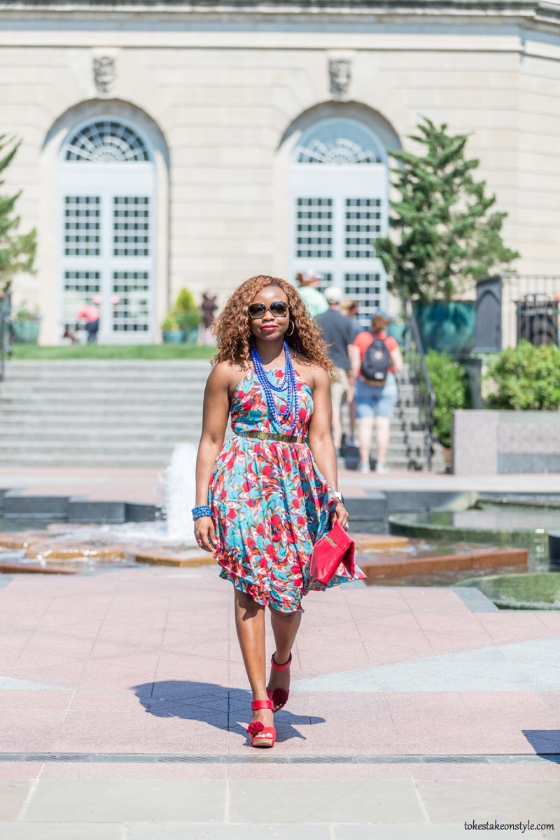 How to Style a Print Dress11