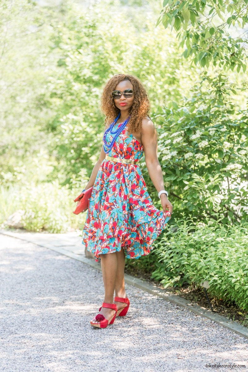 How to Style a Print Dress17