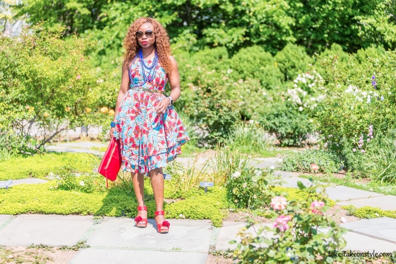 How to Style a Print Dress19