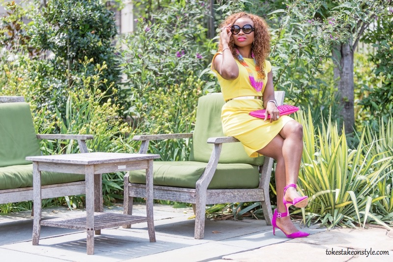 How to Style a Yellow Dress for Work10