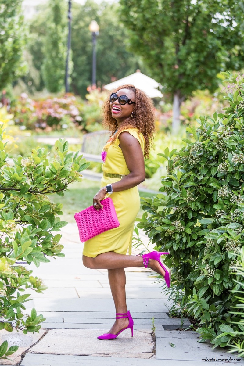 How to Style a Yellow Dress for Work6