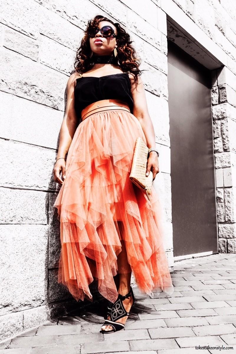 Prada Sunglasses Long Tulle Skirt Fashion Blogger