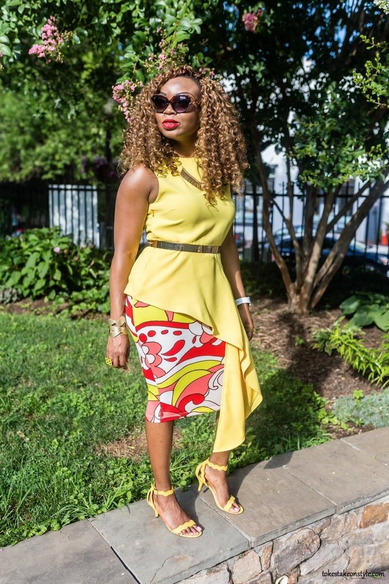 yellow-top-print-skirt