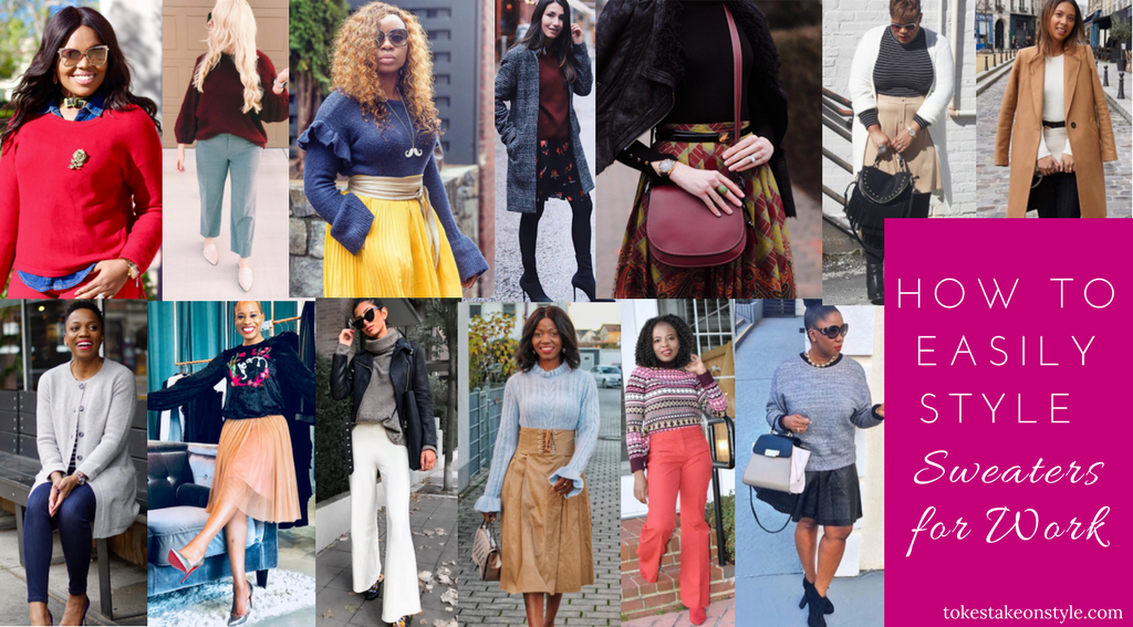 Fashion Bloggers wearing Sweaters for Work