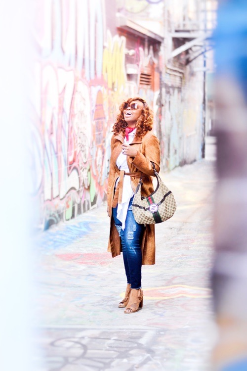 African-American fashion blogger street style