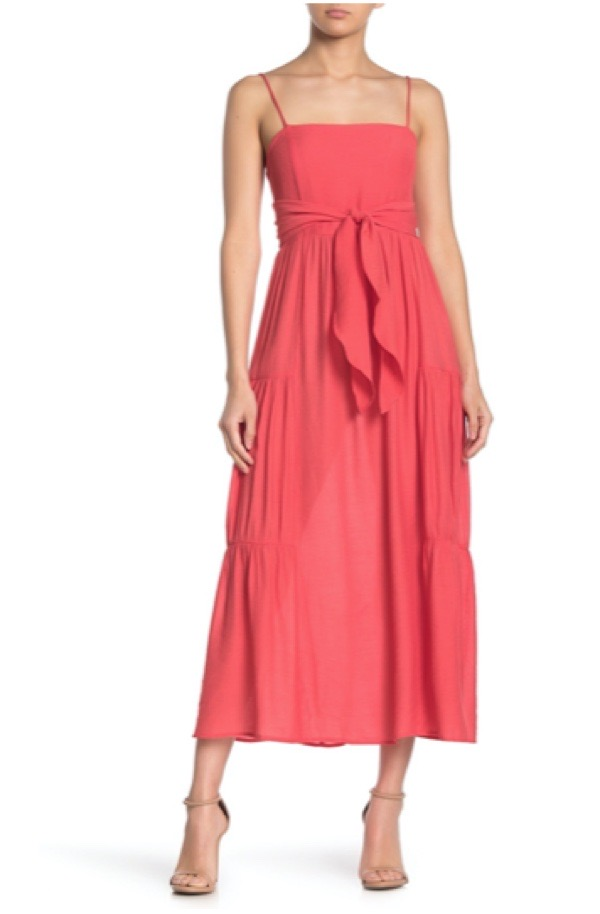 wearable-summer-2020-fashion-trends-neon-coral-nordstromrack-maxi-dress