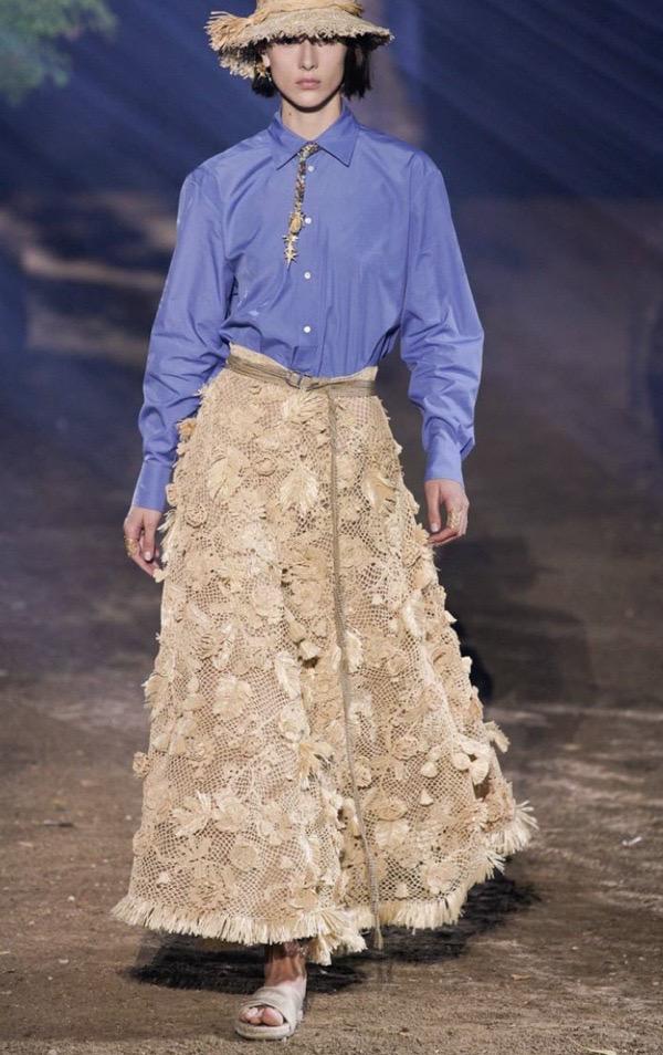 wearable-summer-2020-fashion-trends-Christian-Dior-blue-button-down-shirt