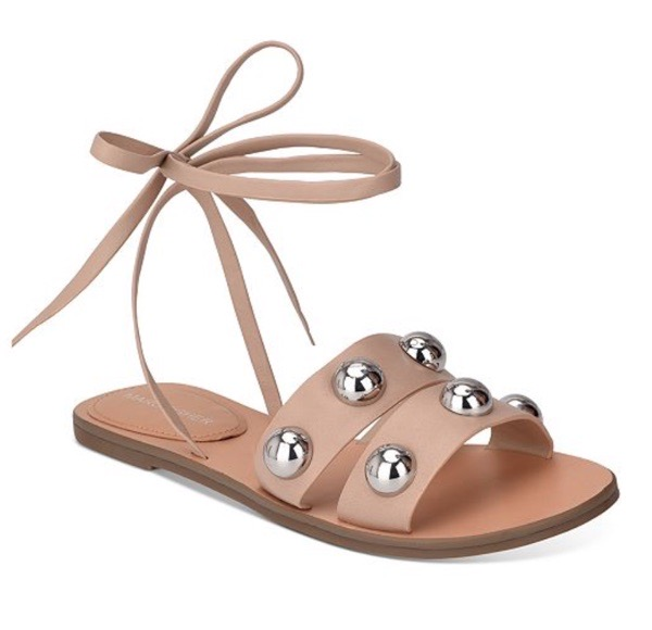 wearable-summer-2020-fashion-trends-Bryony-Ball-Studded-ankle-tie-marc-fisher-flat-sandals