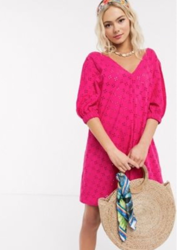 wearable-summer-2020-fashion-trends-pink-puff-sleeve-dress-asos