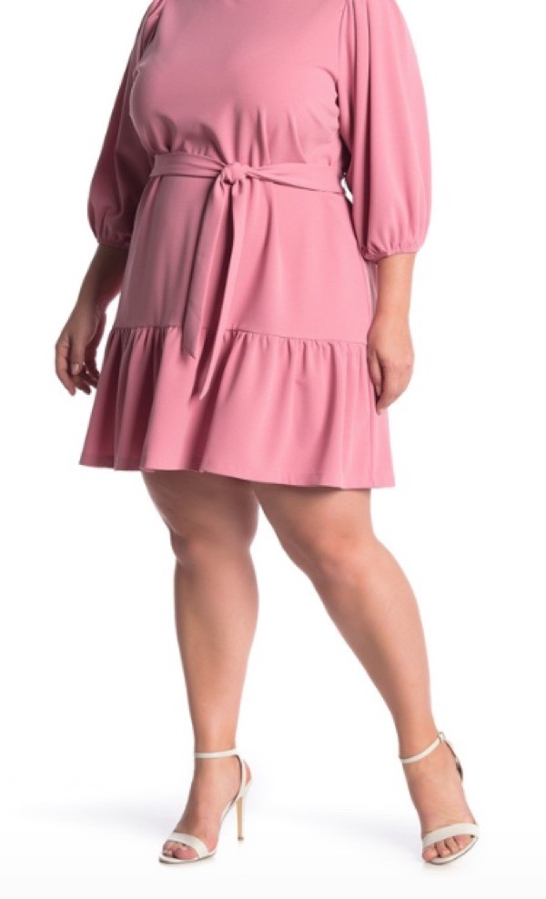 wearable-summer-2020-fashion-trends-pink-puff-sleeve-plus-size-dress-nordstromrack