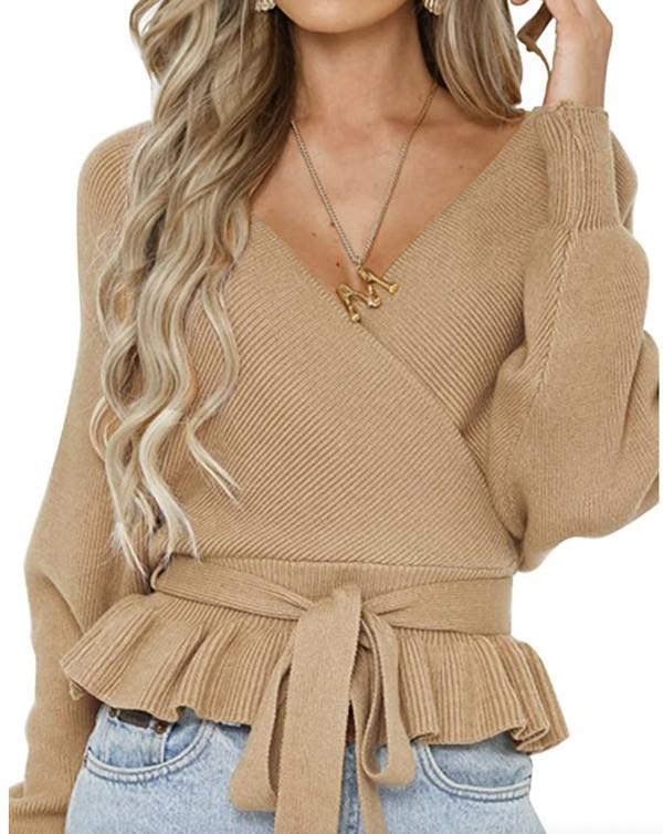 Zesica-how-to-wear-peplum-sweater-amazon
