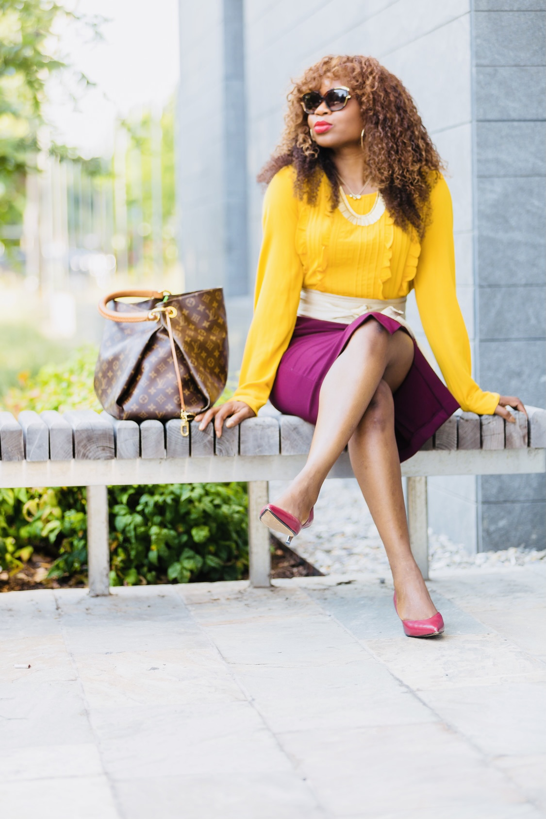 yellow-top-red-skirt