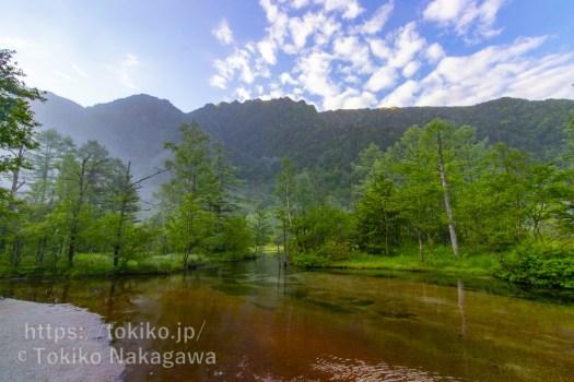 上高地・田代池から霞沢岳