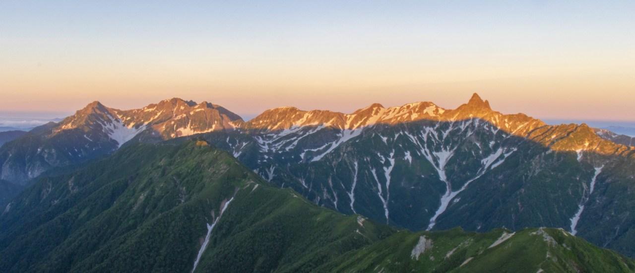 常念岳~大天井岳~燕岳|ご来光・モルゲンロートと高山植物