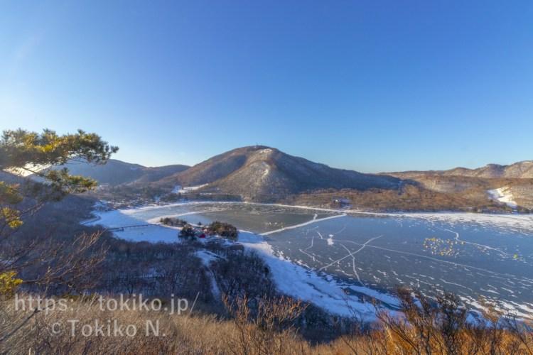 赤城山登山道から見る大沼