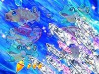 P清流物語3 甘デジ 設定示唆 フィッシングモード 白魚群