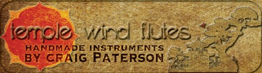 A website banner for Craig Paterson, the owner of Temple Wind Flutes and the love of my life. www.templewindflutes.com