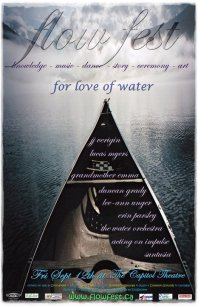 This poster was created for Flow Fest, a 2-day event to honour Water.