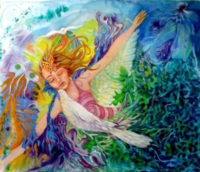 Painting by Lisa Marquis-Bradbury