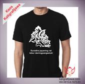 Kaos kaligrafi aksara jawa wayang kresna suradira jayaning rat