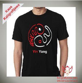 kaos kaligrafi aksara jawa yinyang