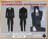 Kostum Cosplay-Kuroshitsuji Sebastian -088806003287