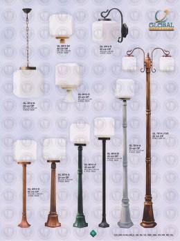 012 LAMPU PILAR DINDING ANDONG DELMAN MALIOBORO