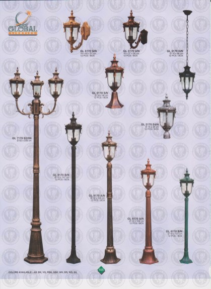 105 LAMPU PILAR DINDING ANDONG DELMAN MALIOBORO