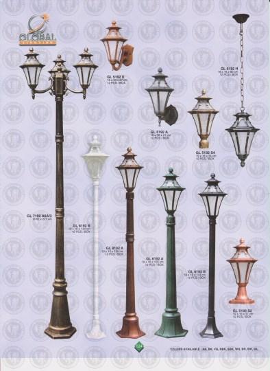 124 LAMPU PILAR DINDING ANDONG DELMAN MALIOBORO
