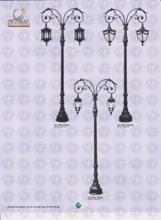 145 LAMPU PILAR DINDING ANDONG DELMAN MALIOBORO