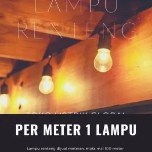 stringlights outdoor cafe light per meter 1 meter