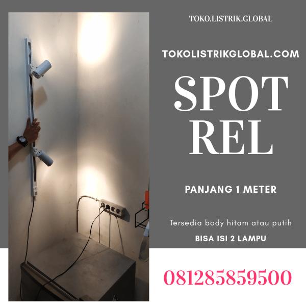 spot rel 1 meter 2 lampu LED putih