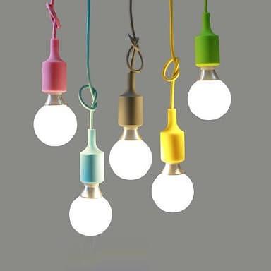 fitting rainbow lampu gantung warna toko listrik global