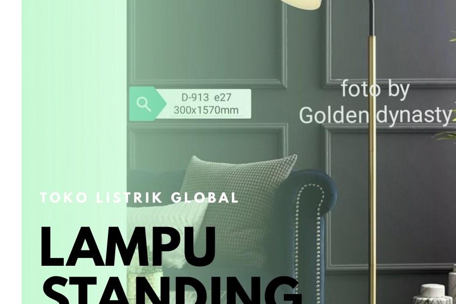 standing lamp lampu lantai sorot toko listrik global
