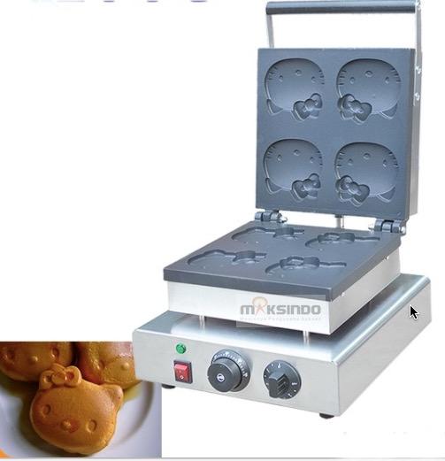 Jual Mesin Cetak Kue Waffle Bentuk Hello Kity Kitty1 Di