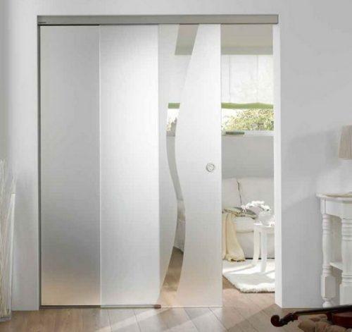 Gambar 1 – Desain pintu partisi geser kaca yang unik