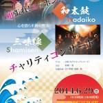 2014年6月29日第1回絆プロジェクト2030和太鼓三味線チャリティーコンサート