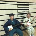 神奈川県から親子で三味線体験、和太鼓体験