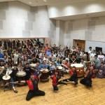留学生&日本人大学生60名が和太鼓で国際交流!