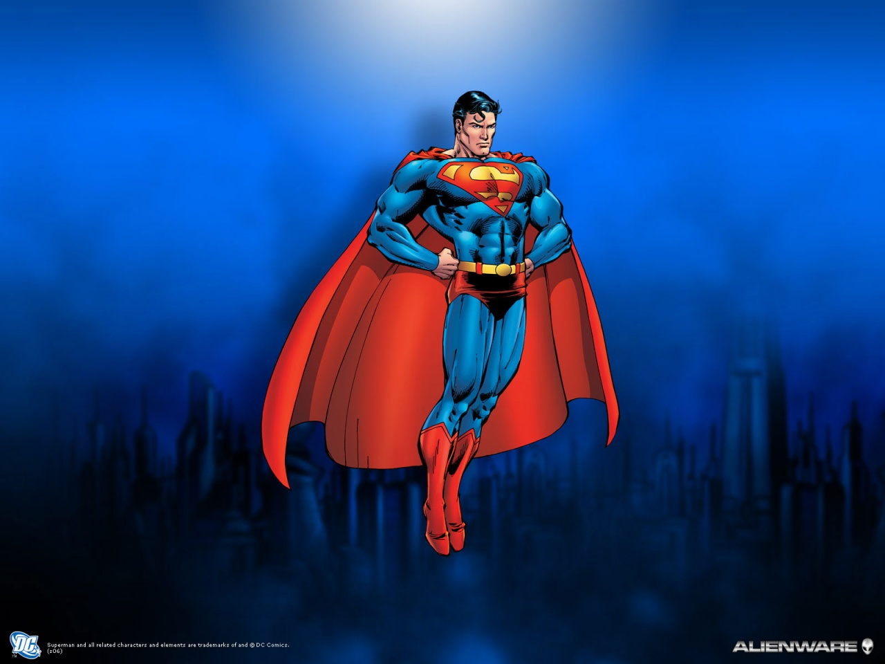 superman cartoon wallpaper dc comic animated wallpapers
