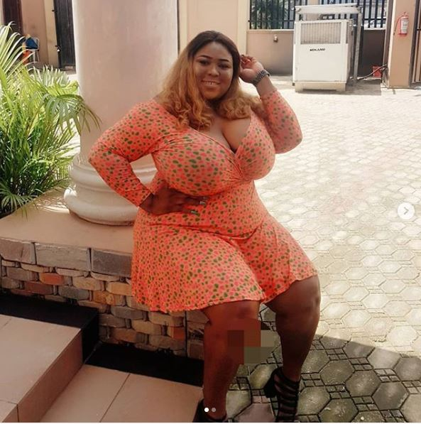 Heavy Commotion on Social Media as Lady Shows off Massive Chest Asset (Photos)