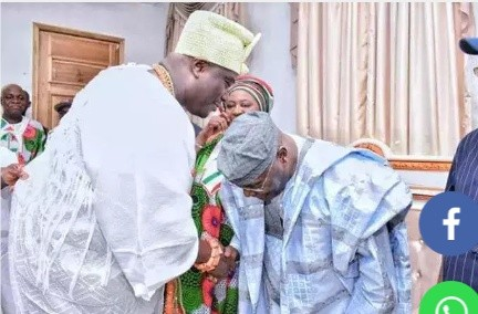 PDP Presidential Candidate - Atiku Abubakar visits Ooni of Ile-Ife
