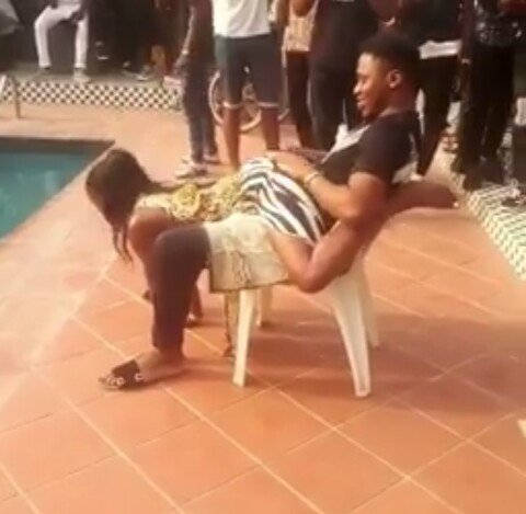 Slay Queen with Heavy Tatoo Slammed for Rocking Man Seductively in Pool Party