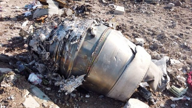 Parts Ukrainian Plane Shot Down