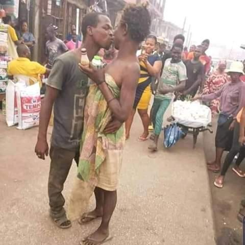 Mentally challenged couple spotted celebrating Valentine's Day in Edo